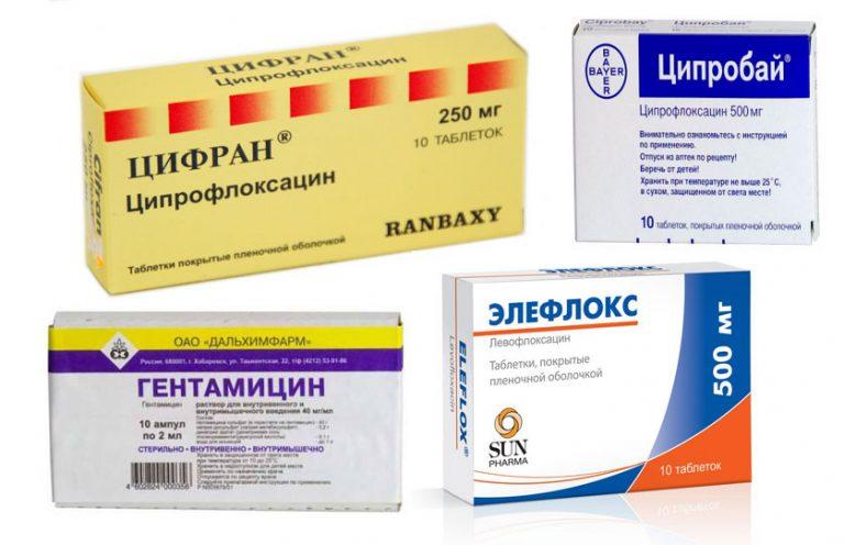 антибиотики при простатита